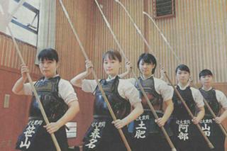 「なぎなた部インターハイへ」-7/31 神戸新聞に掲載されました。