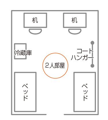 女子寮部屋